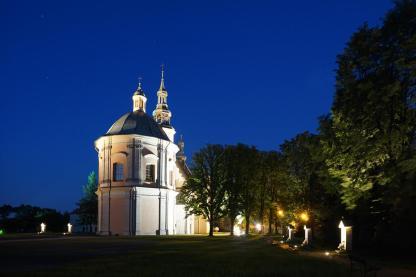 kaplica loretańska nocą
